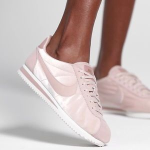 Nike Blush Pink Velvet Cortez Sneakers